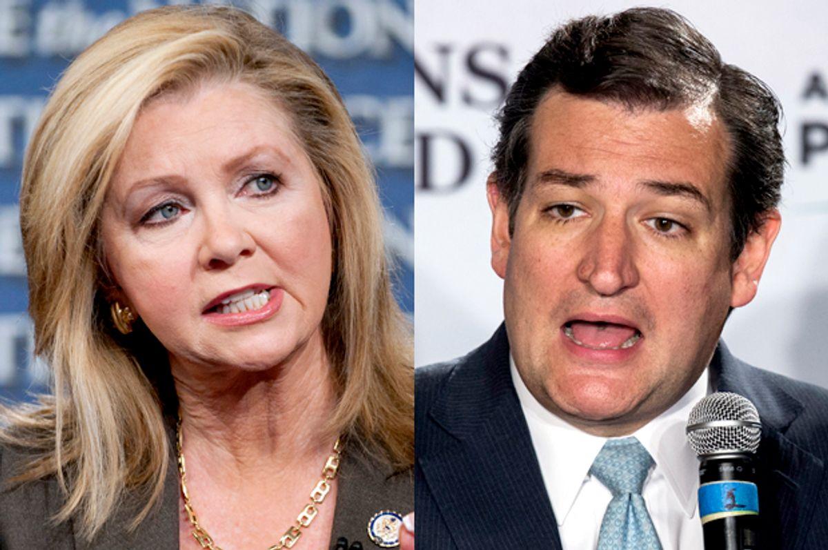 Marsha Blackburn, Ted Cruz           (AP/Chris Usher/Reuters/Lucas Jackson)