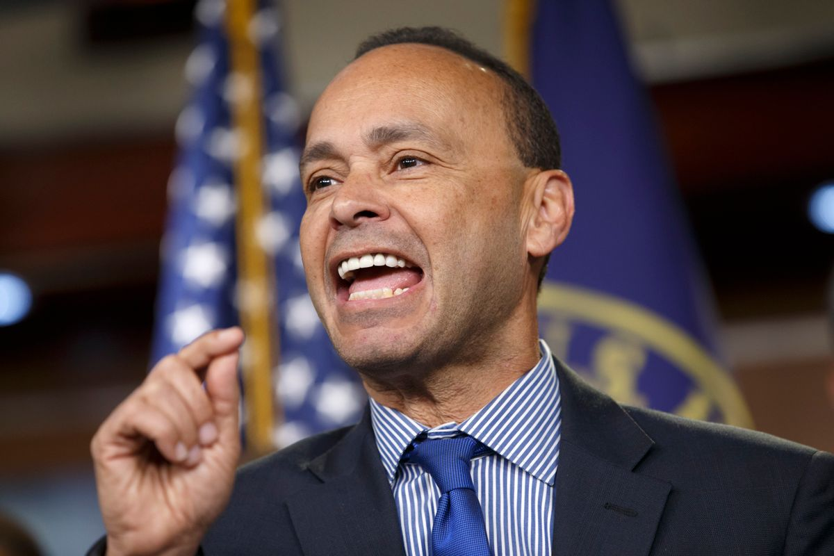 Rep. Luis Gutierrez, D-Ill., a leading advocate in the House for comprehensive immigration reform, leads a news conference with fellow Democrats on the implementation of President Barack Obama's executive actions to spare millions from immediate deportation, Tuesday, Jan. 13, 2015, on Capitol Hill in Washington.  (AP Photo/J. Scott Applewhite) (AP)