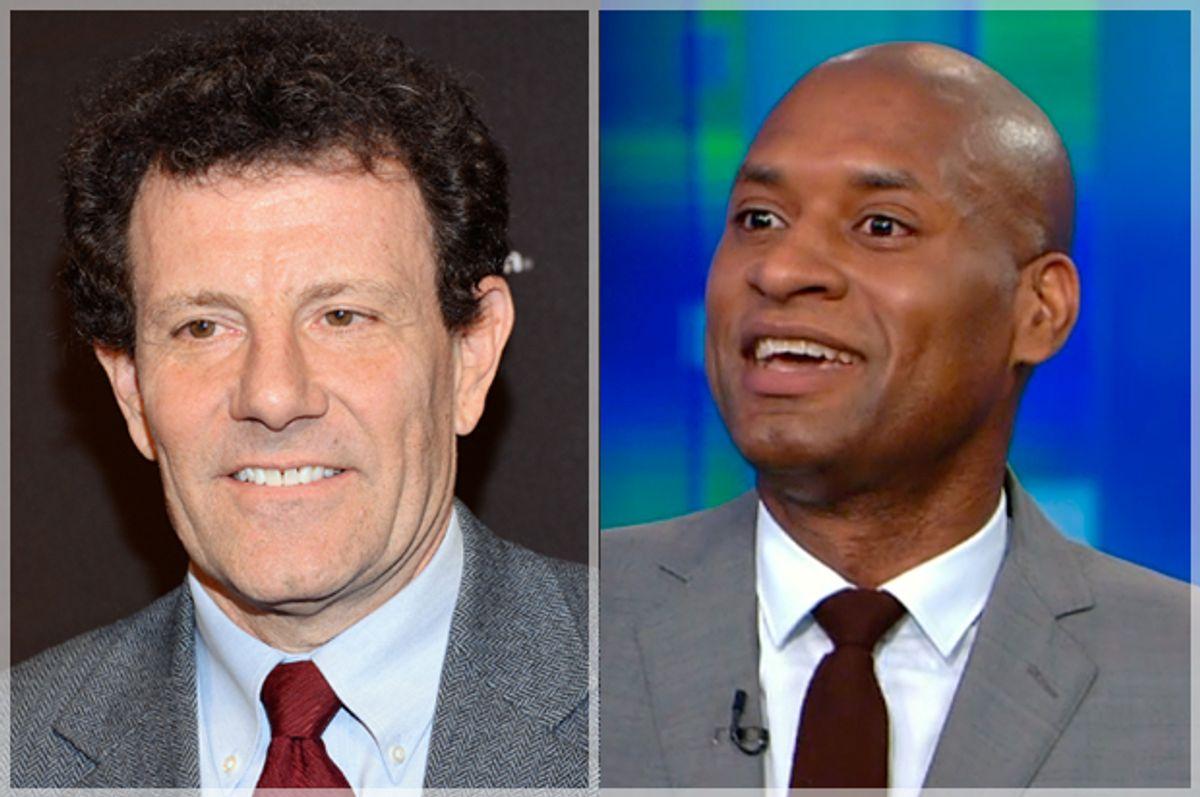 Nicholas Kristof, Charles Blow          (AP/Evan Agostini/CNN)