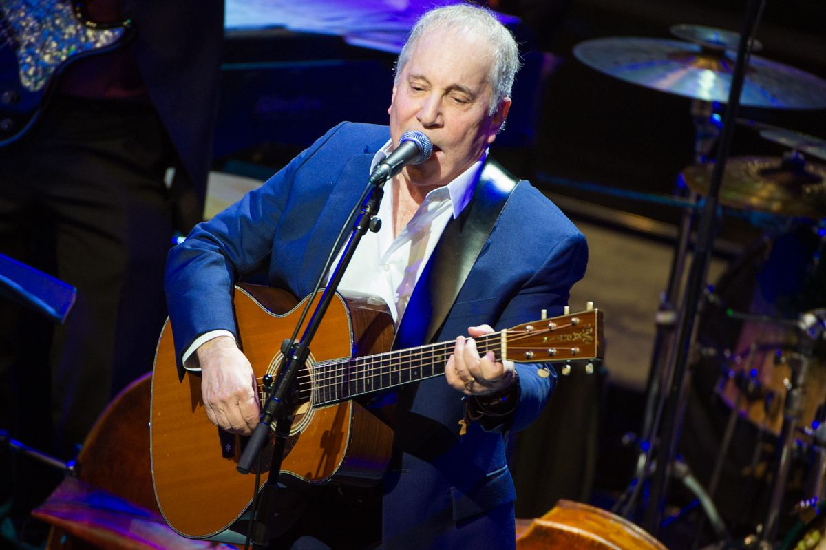 Paul Simon performs at the Nearness of You concert at Frederick P. Rose Hall, Jazz at Lincoln Center, Tuesday, Jan. 20, 2015, in New York. (Photo by Scott Roth/Invision/AP)  (Scott Roth/invision/ap)