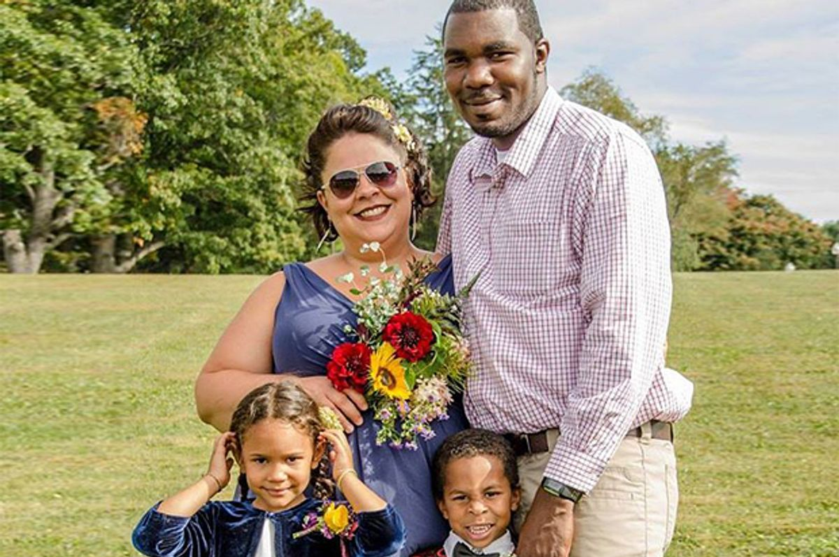 Blair Campbell, her husband, Charlan Campbell, and their children.