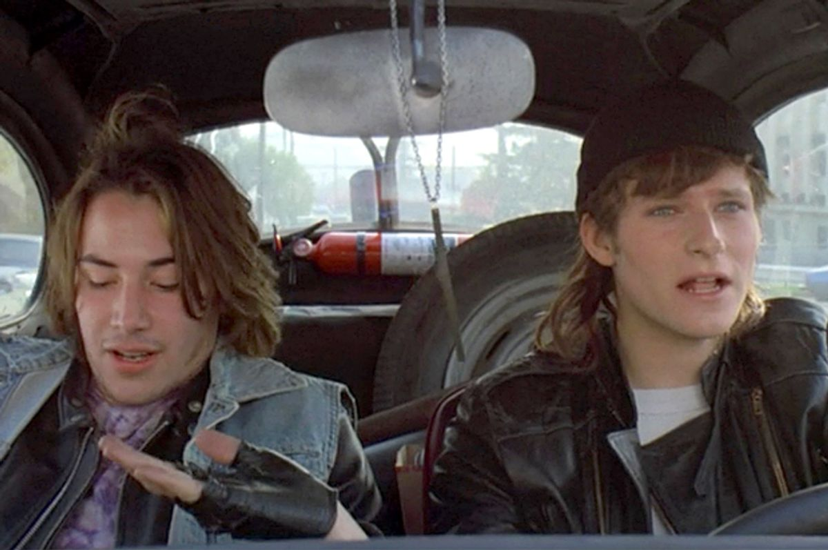 """Keanu Reeves and Crispin Glover in """"River's Edge"""""""