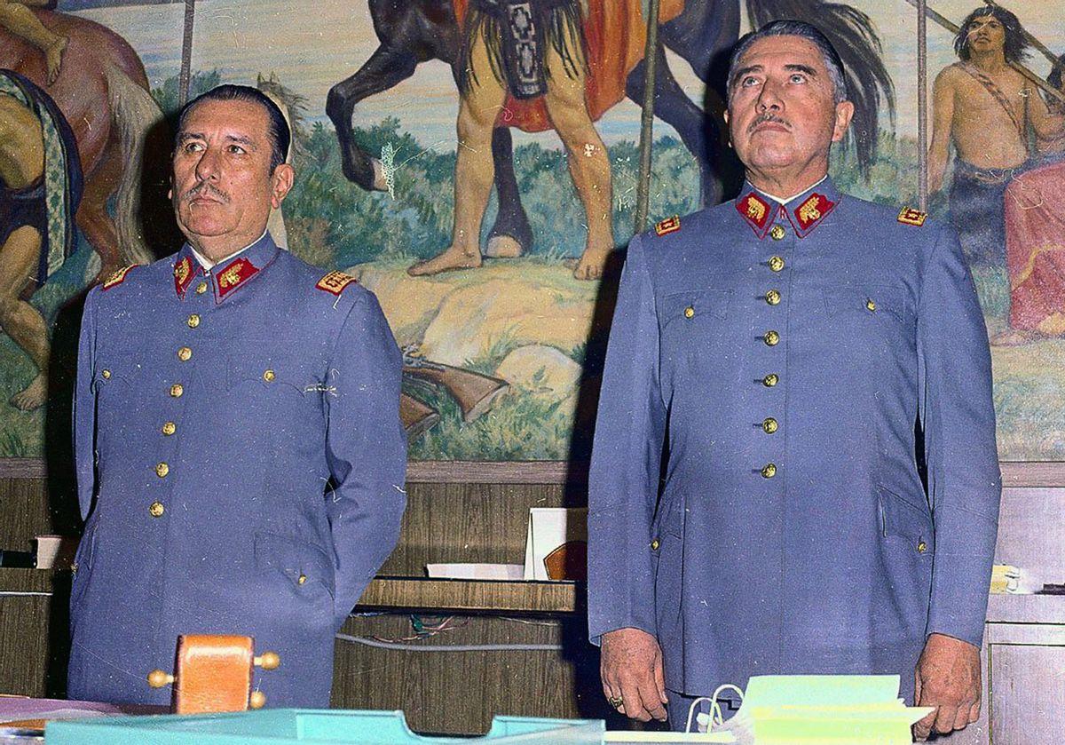 Gen. Augusto Pinochet, right, appears with former Army Chief Gen. Carlos Prats  (AP/La Tercera)