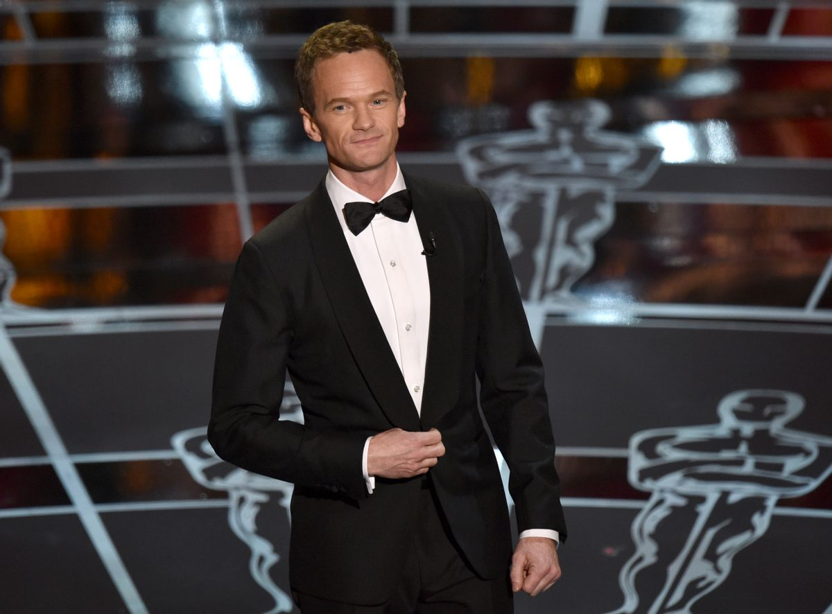 Host Neil Patrick Harris speaks at the Oscars on Sunday, Feb. 22, 2015, at the Dolby Theatre in Los Angeles.       (John Shearer/Invision/AP)