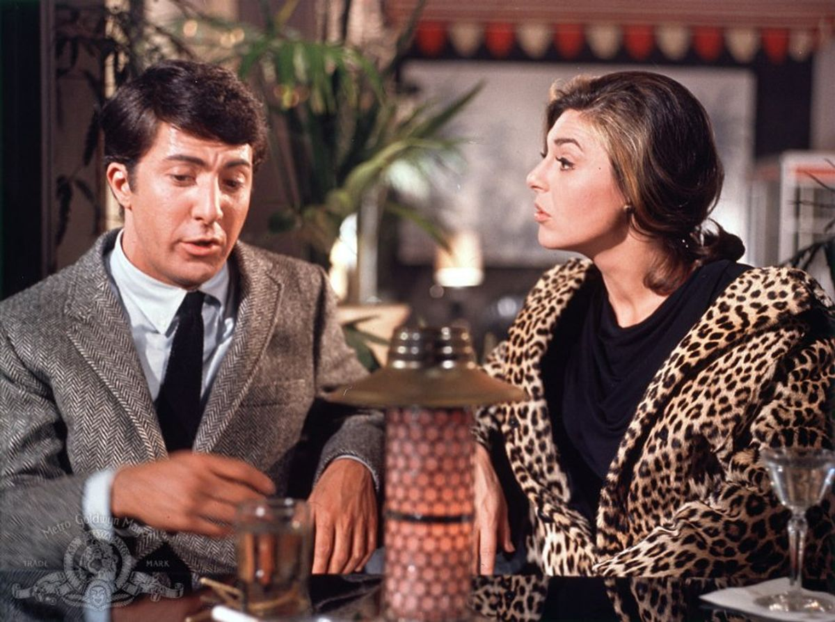 """Dustin Hoffman and Anne Bancroft in """"The Graduate"""""""