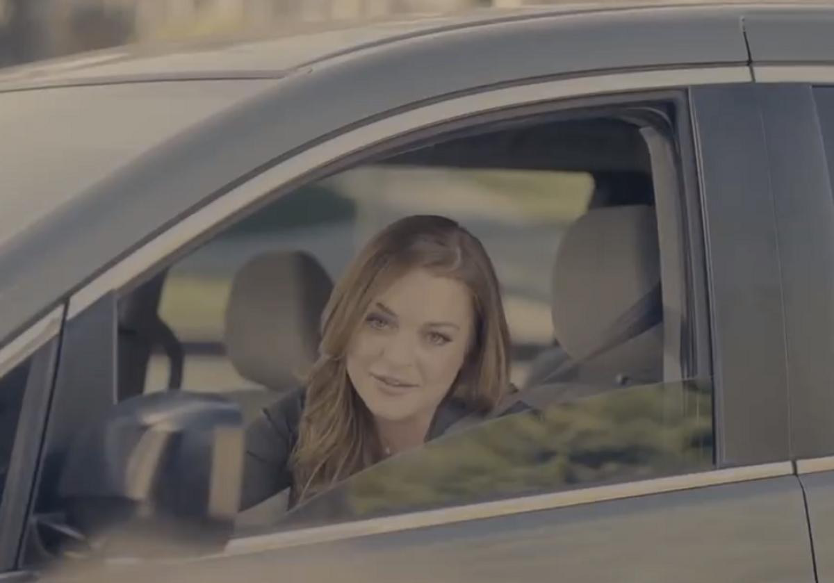 Lindsay Lohan in Esurance commercial       (Esurance)