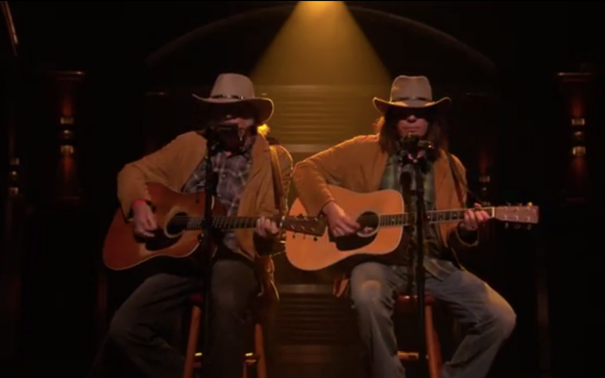 Neil Young and Jimmy Fallon      (NBC)