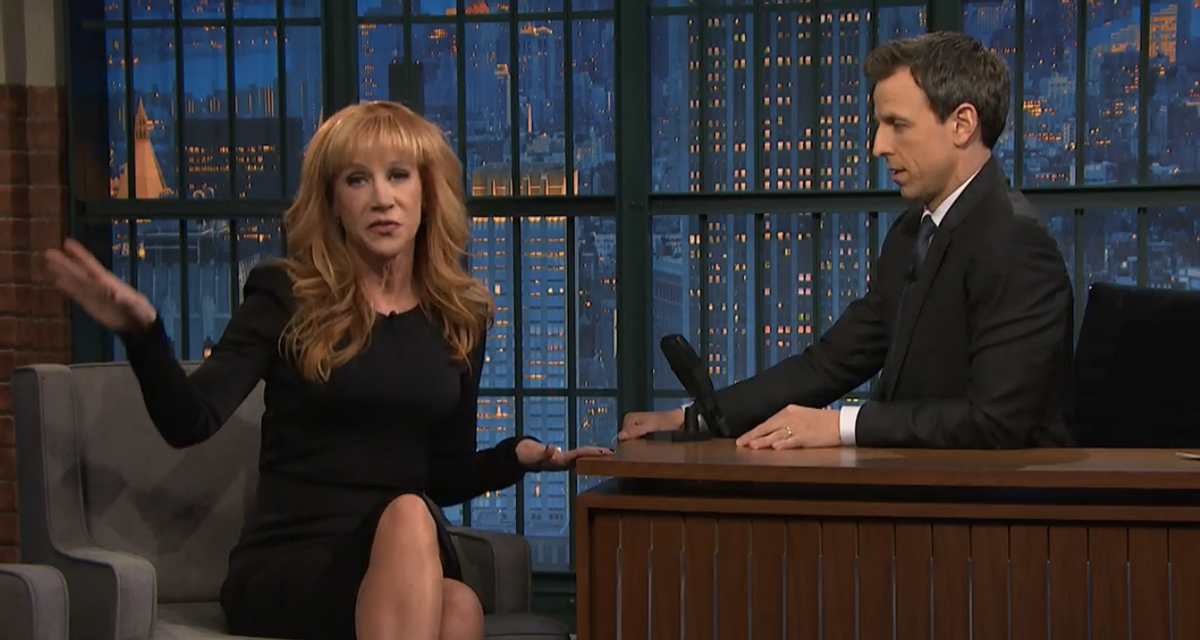 Kathy Griffin and Seth Meyers     (NBC)