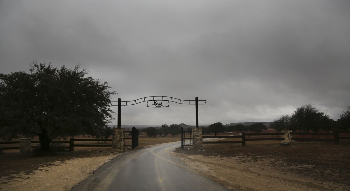 This Thursday, Jan. 22, 2015 photo shows the front entrance of the Rough Creek Lodge resort near Glen Rose, Texas. Eddie Ray Routh, an Iraq war veteran who was battling post-traumatic stress disorder and other personal issues is scheduled to stand trial in nearby Stephenville, Texas in the slayings of two men who were trying to help him, former Navy SEAL sniper Chris Kyle and Chad Littlefield. The two were found dead at the gun range here on Feb. 2, 2013. (AP Photo/LM Otero) (AP)