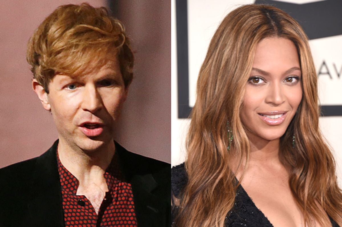 Beck, Beyonce     (Reuters/Lucy Nicholson/AP/Jordan Strauss)