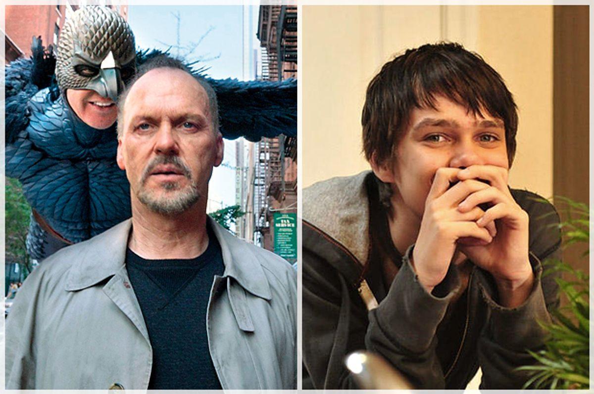 """Michael Keaton in """"Birdman,"""" Ellar Coltrane in """"Boyhood"""""""