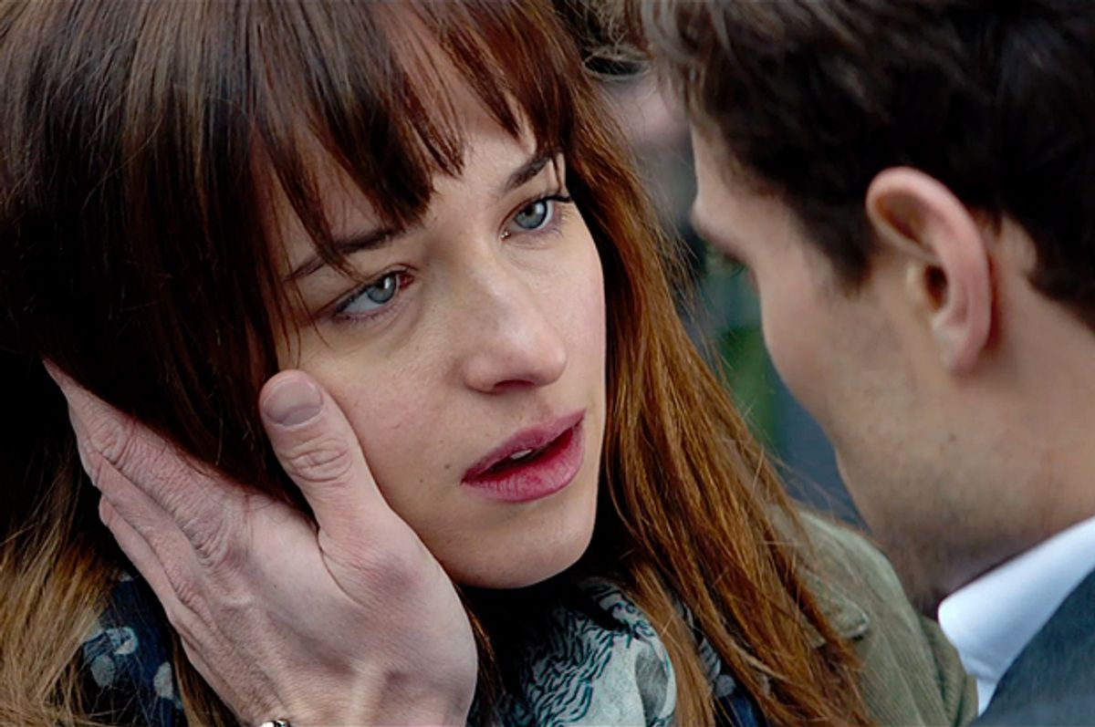 """Dakota Johnson and Jamie Dornan in """"Fifty Shades of Grey""""                 (Universal Pictures)"""