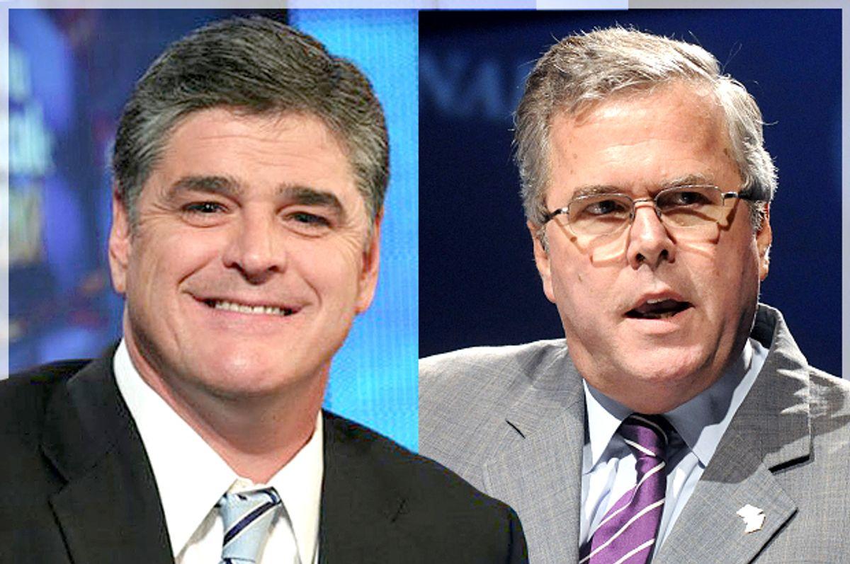 Sean Hannity, Jeb Bush            (Fox News/Reuters/David Manning)