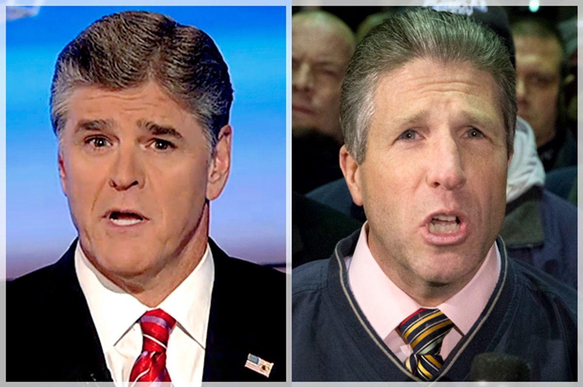 Sean Hannity, Patrick Lynch        (Fox News/AP/John Minchillo)