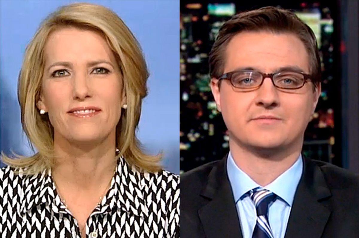 Laura Ingraham, Chris Hayes              (Fox News/MSNBC)