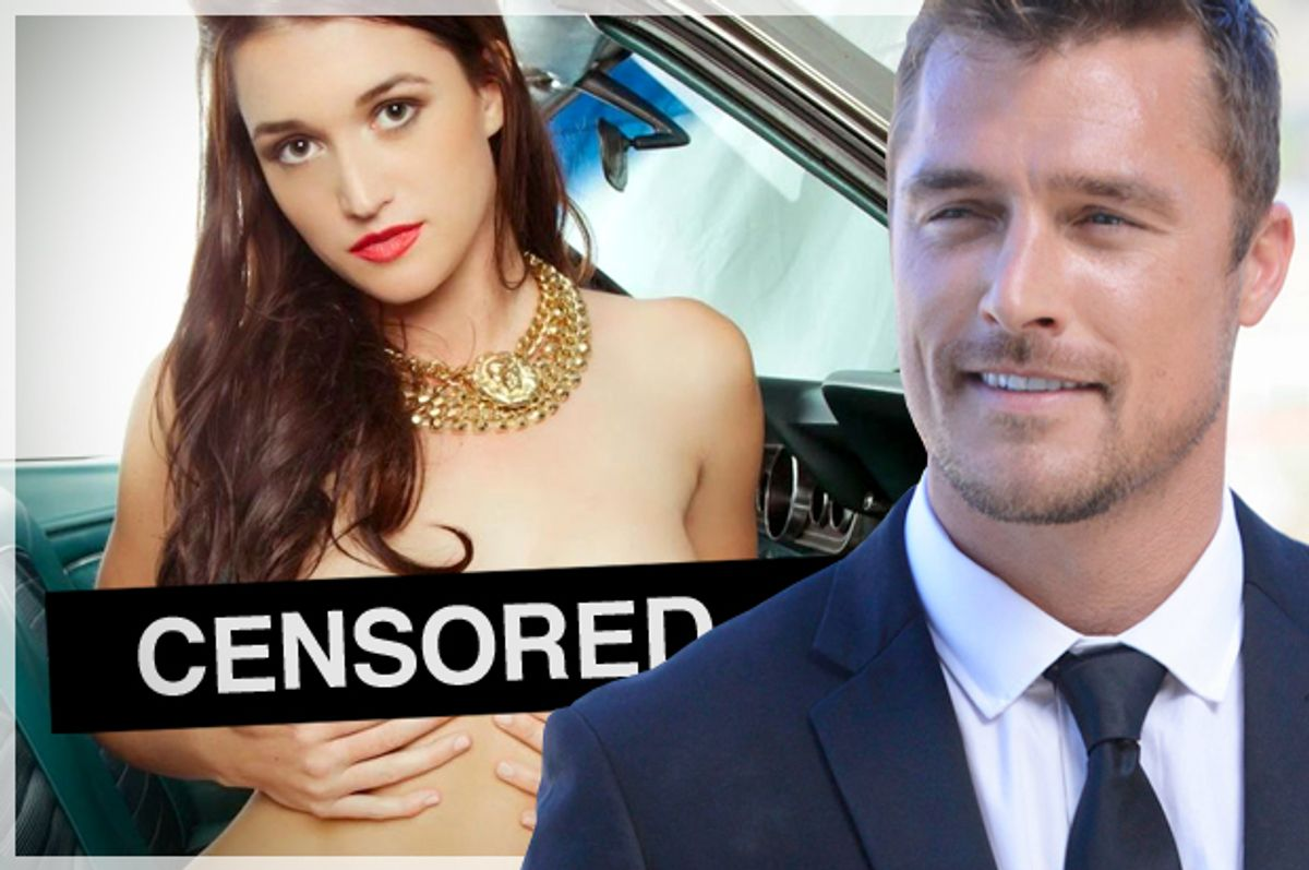 """""""The Bachelor"""" contestant Jade, pictured in """"Playboy""""; Bachelor Chris Soules    (Playboy Enterprises/ABC/Photo montage by Salon)"""