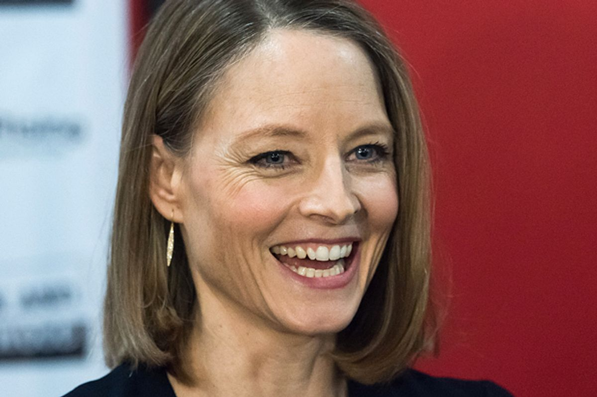 Lifetime Achievement Award recipient Jodie Foster, at the 5th Annual Athena Film Festival, Feb. 5, 2015.     (AP/Charles Sykes)