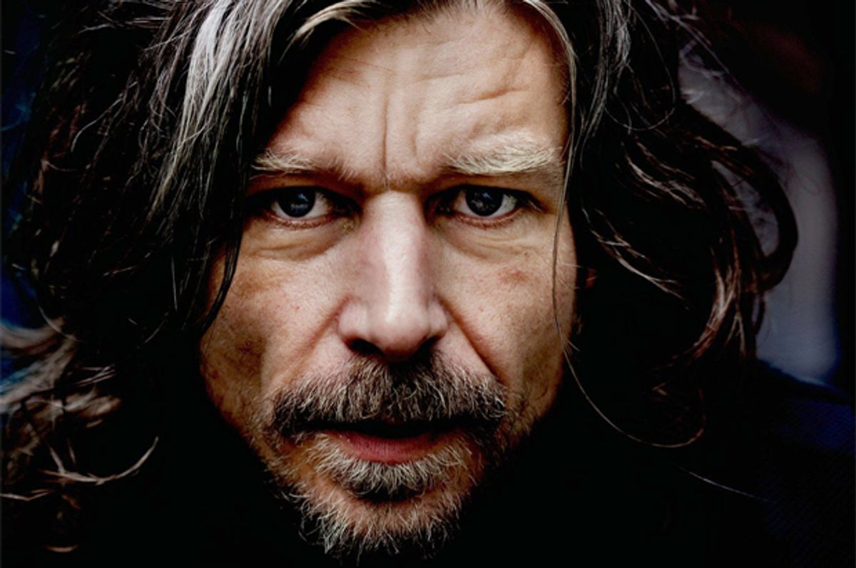 """Karl Ove Knausgård, in cover detail of """"My Struggle: Book 1""""       (Farrar, Straus and Giroux)"""