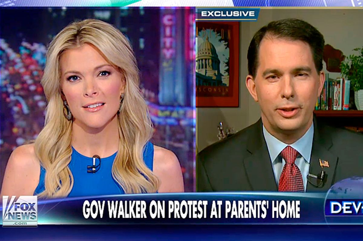Megyn Kelly, Scott Walker            (Fox News)