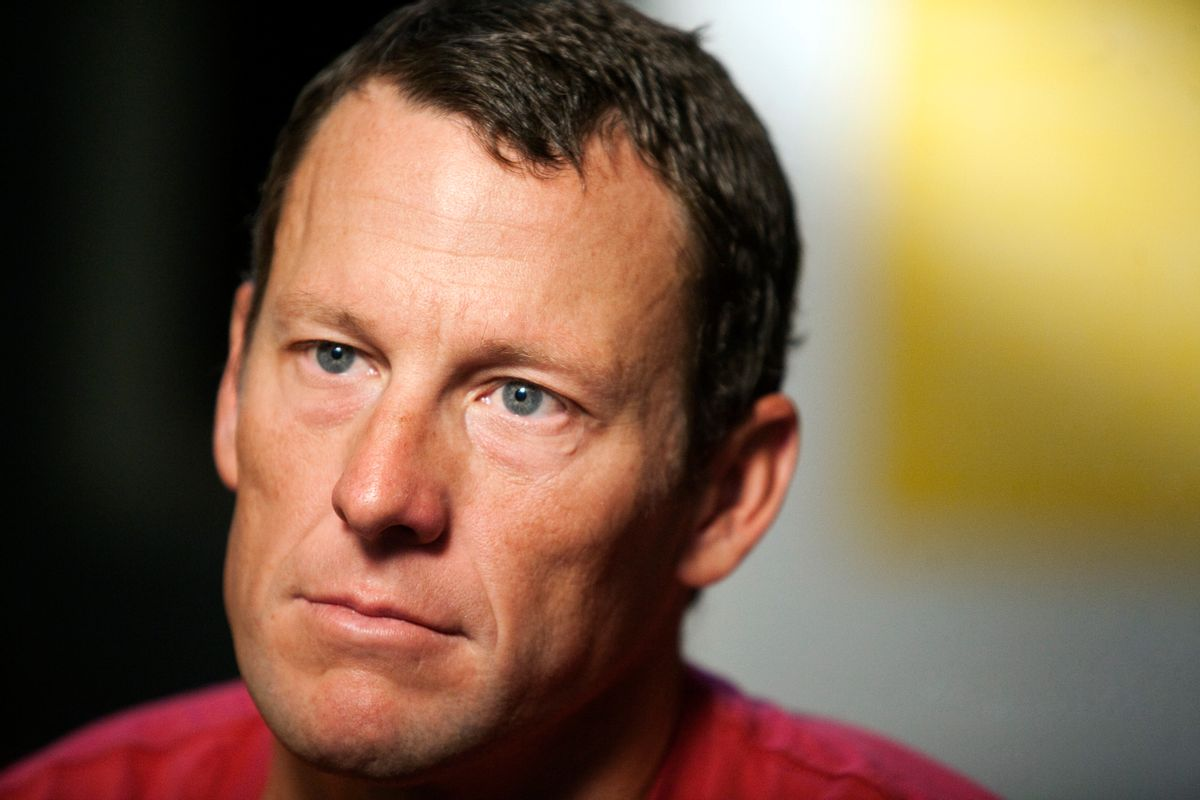 FILE - In this Feb. 15, 2011, file photo, Lance Armstrong pauses during an interview in Austin, Texas. Lance Armstrong has pleaded guilty to careless driving for hitting two parked cars with his SUV in Aspen.  The cyclist entered his plea by mail on Friday under a plea agreement with prosecutors, closing the case and avoiding a court appearance. Armstrong's girlfriend, Anna Hansen, originally told police she was behind the wheel in the Dec. 28 accident in icy conditions but later confessed that she lied to avoid media attention.  (AP Photo/Thao Nguyen, File) (AP)