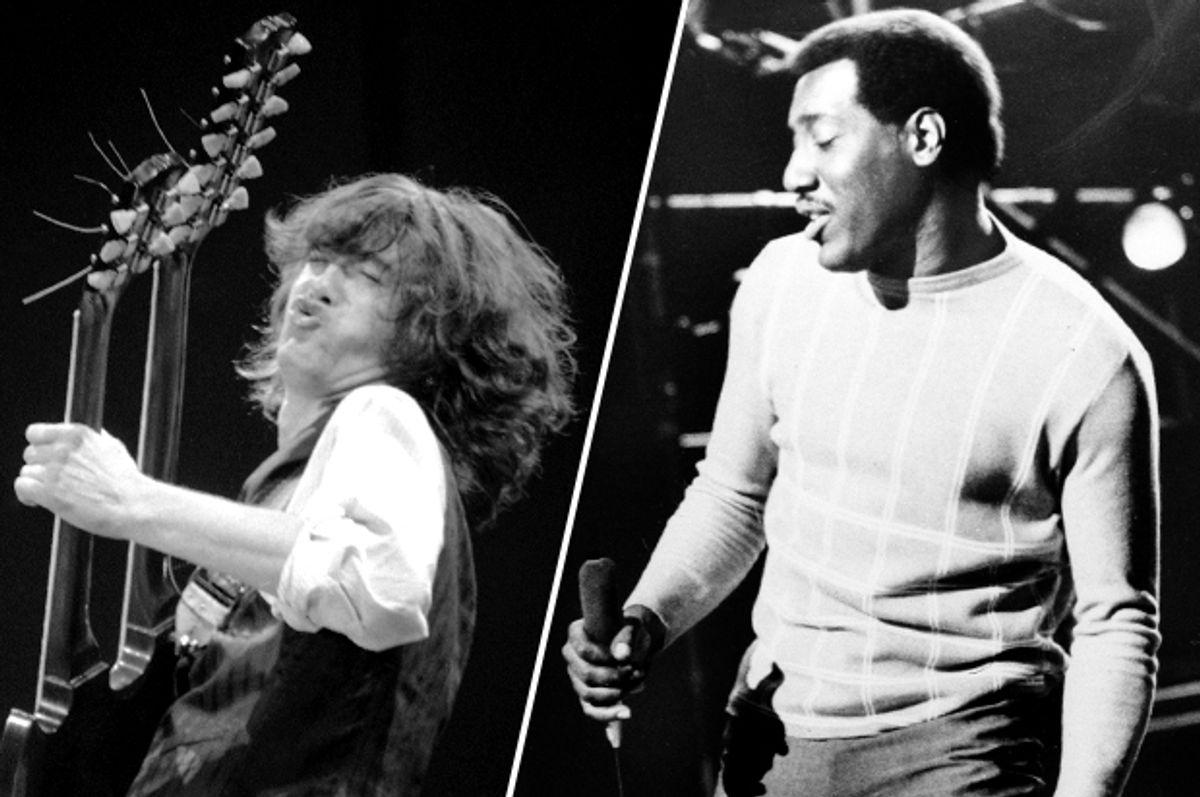 Jimmy Page, Otis Redding      (AP/Veronica Farley)