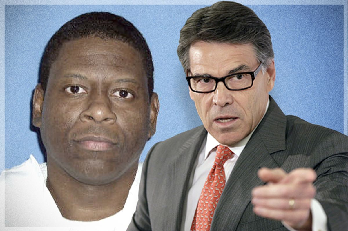 Texas Death Row inmate Rodney Reed; Rick Perry      (AP/Mark Thiessen)