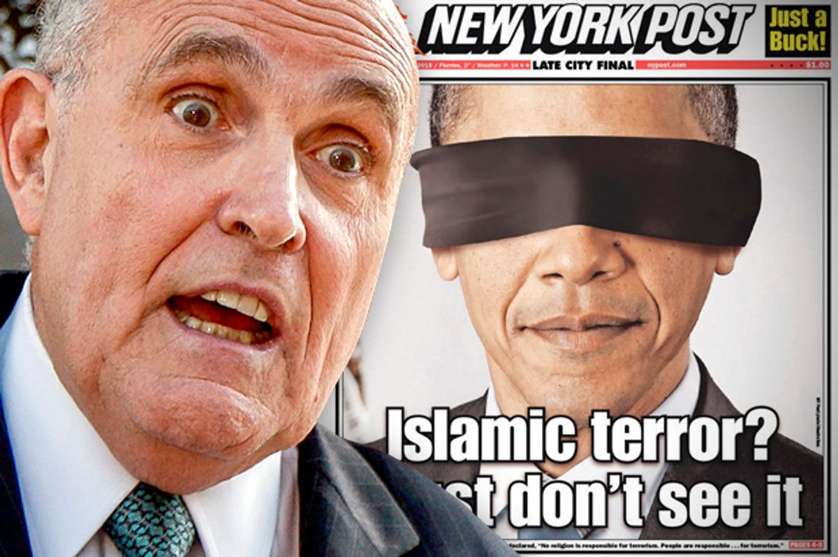 Rudy Giuliani        (AP/Damian Dovarganes/Salon)