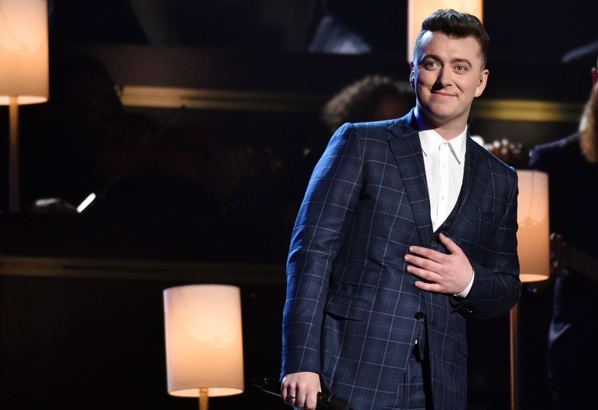 Sam Smith performs at the 57th annual Grammy Awards on Sunday, Feb. 8, 2015, in Los Angeles. (Photo by John Shearer/Invision/AP) (John Shearer/invision/ap)