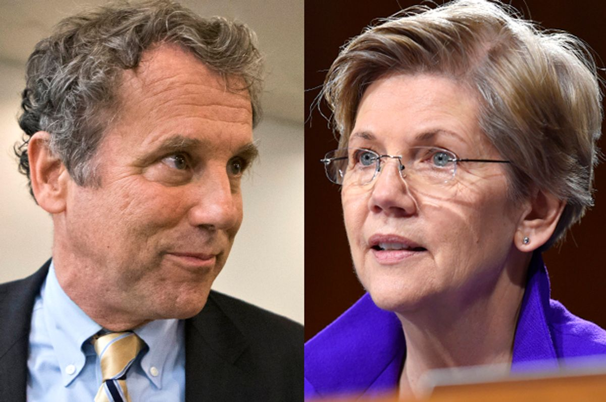 Sherrod Brown, Elizabeth Warren       (AP/J. Scott Applewhite/Susan Walsh)
