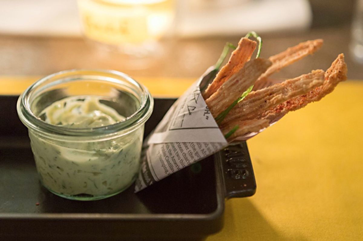 Cartilage tartar sauce infused with smoked whitefish heads.      (Thomas Schauer)