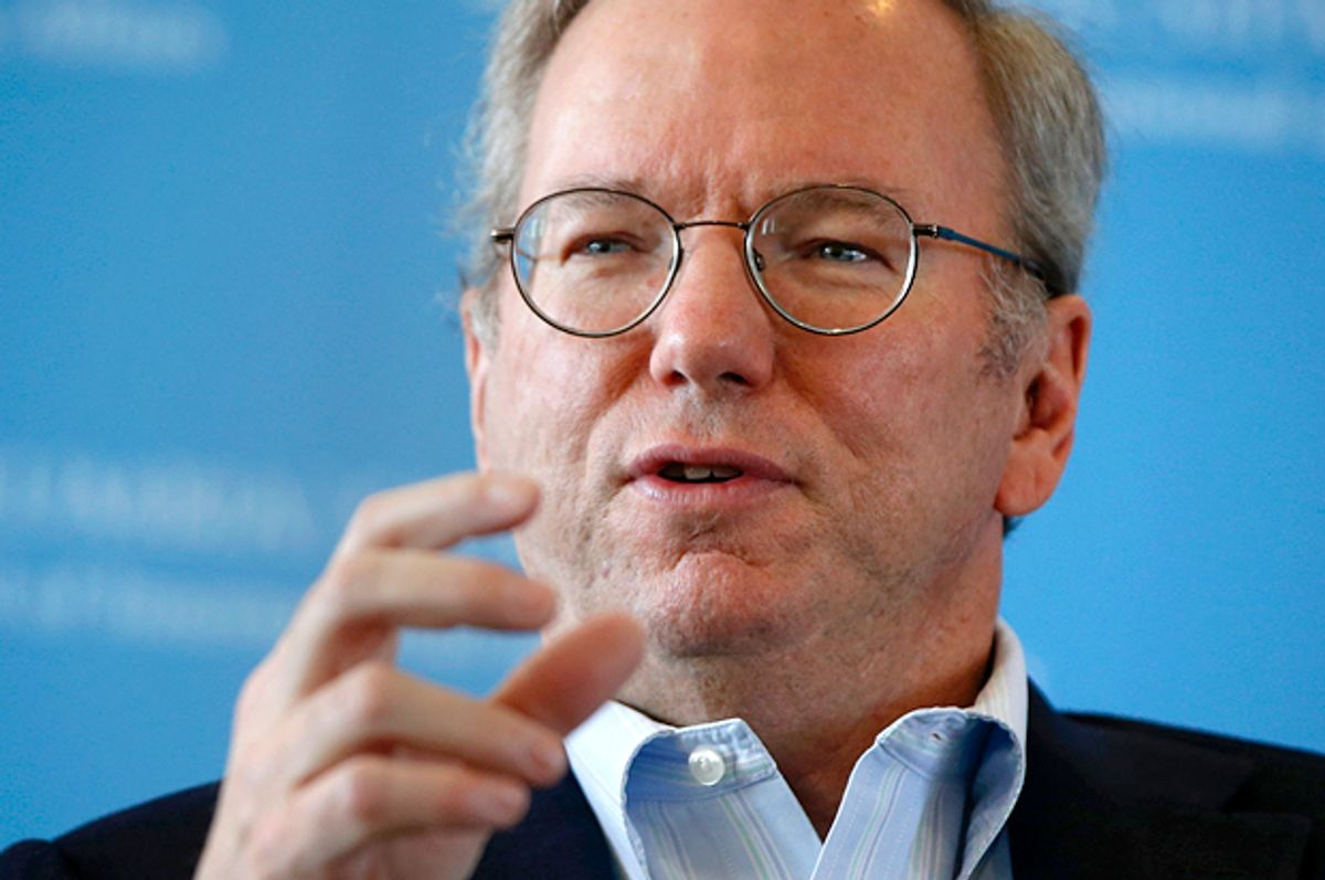 Eric Schmidt      (Reuters/Shannon Stapleton)