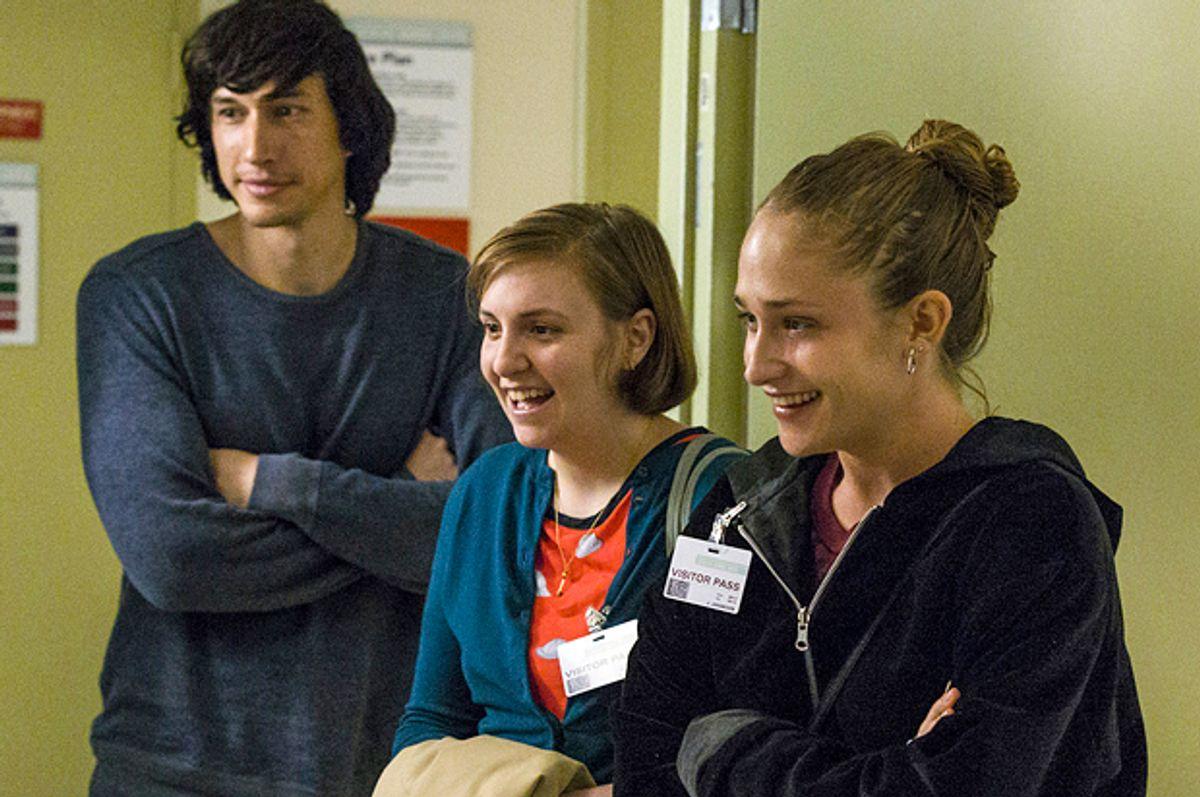 """Adam Driver, Lena Dunham and Jemima Kirke in """"Girls""""    (HBO/Mark Schafer)"""