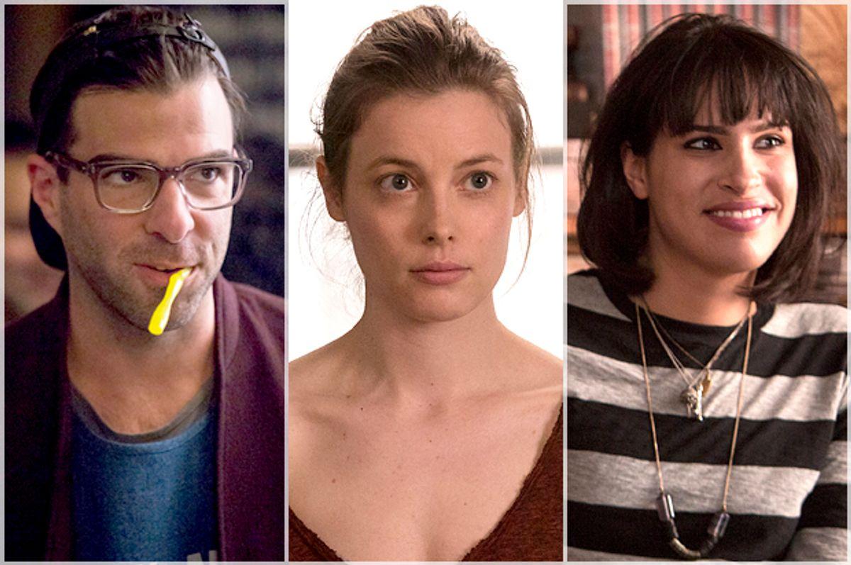 "Zach Quinto, Gillian Jacobs and Desiree Akhavan in ""Girls""        (HBO/Craig Blankenhorn)"