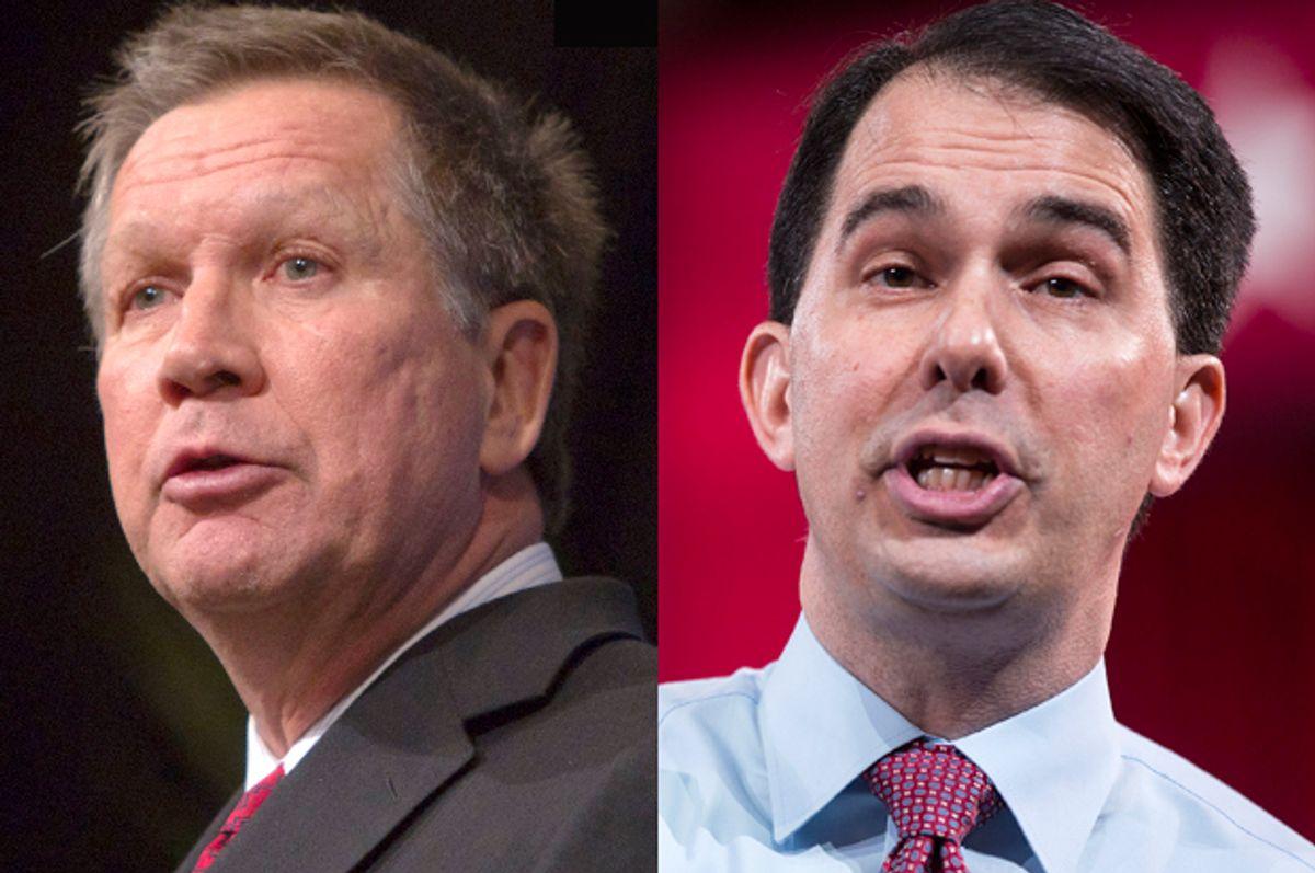 John Kasich, Scott Walker                     (Reuters/Steve Marcus/Joshua Roberts)