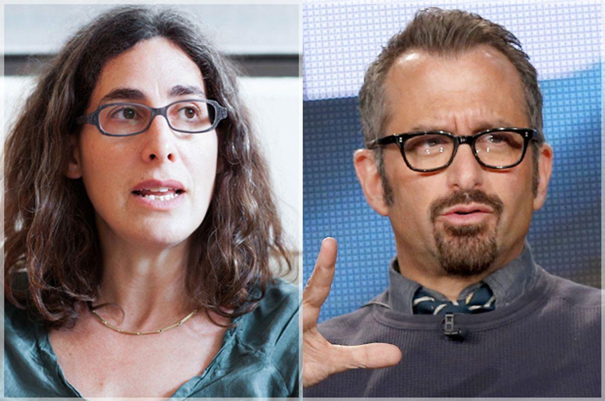 Sarah Koenig, Andrew Jarecki          (serialpodcast.org/Meredith Heuer/Reuters/Lucy Nicholson)