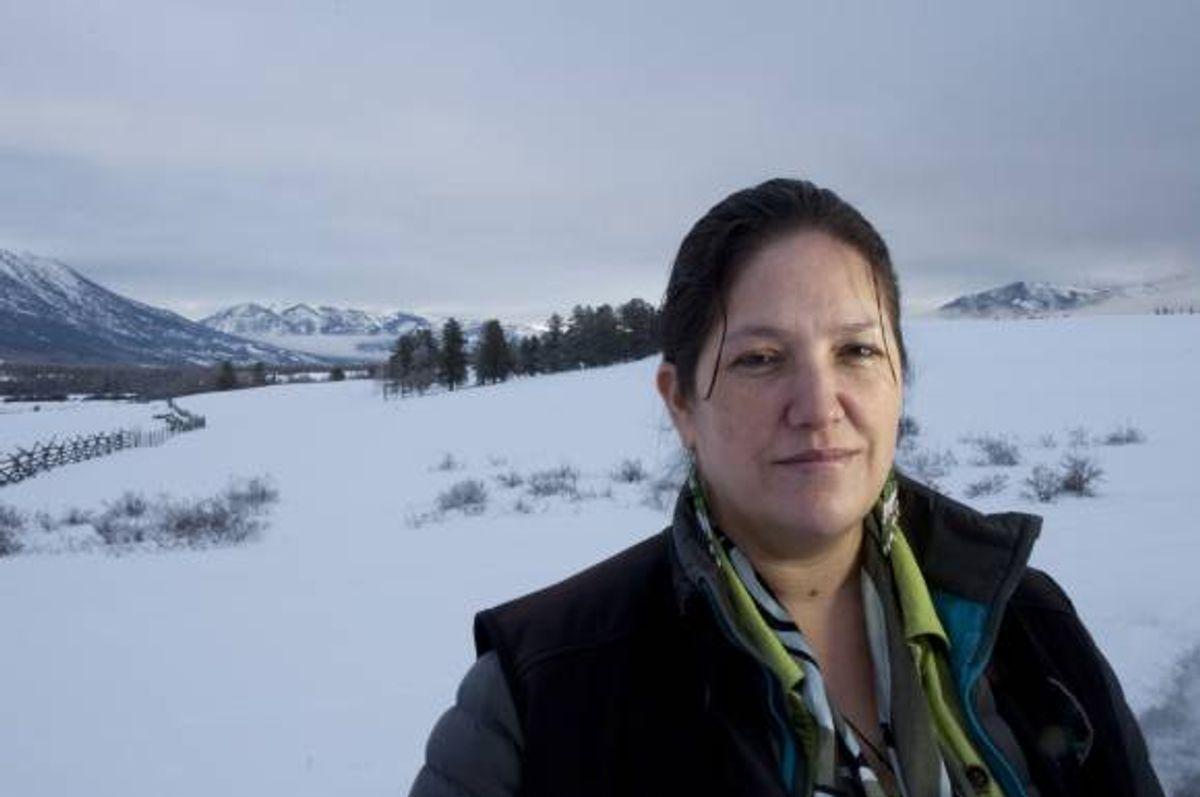 Marilyn Baptiste in Xeni, Nemiah Valley     (Goldman Environmental Prize)