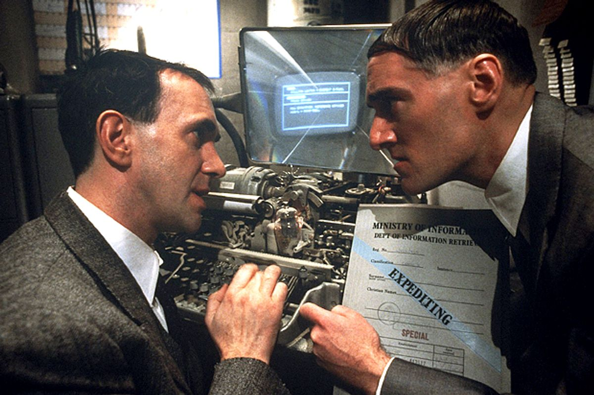 "Jonathan Pryce and Charles McKeow in ""Brazil""       (Twentieth Century Fox)"