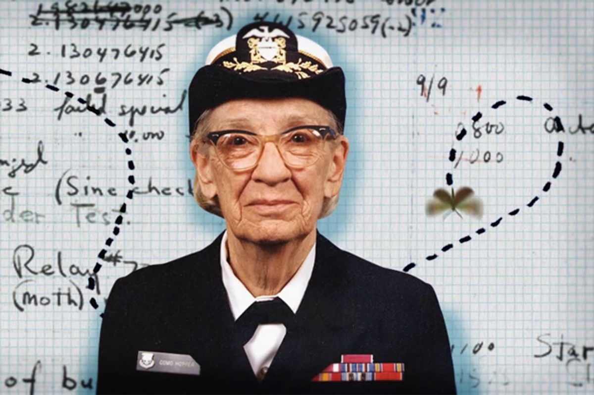 """Grace Hopper pictured in a still from """"CODE: Debugging the Gender Gap"""""""