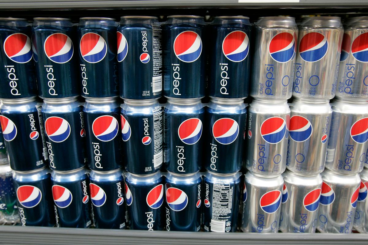 FILE - In this Feb. 9, 2009 file photo, Pepsi drinks are on display at JJ&F Market in Palo Alto, Calif.  PepsiCo says it's dropping aspartame from Diet Pepsi in response to customer feedback and replacing it with sucralose, another artificial sweetener commonly known as Splenda. The decision to swap sweeteners comes as Americans keep turning away from popular diet sodas. Coca-Cola said this week of April 20, 2015,  that sales volume for Diet Coke fell 5 percent in North America in the first three months of the year.(AP Photo/Paul Sakuma) (AP)