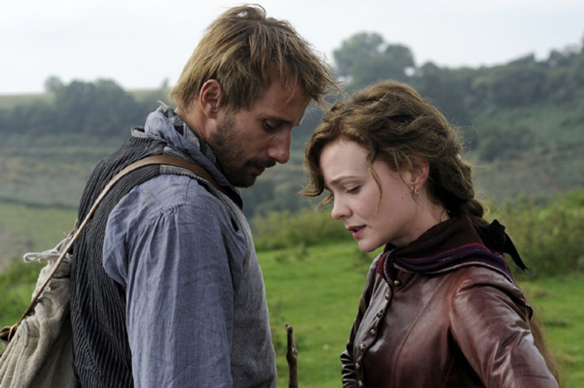 """Matthias Schoenaerts and Carey Mulligan in """"Far from the Madding Crowd""""        (Fox Searchlight)"""