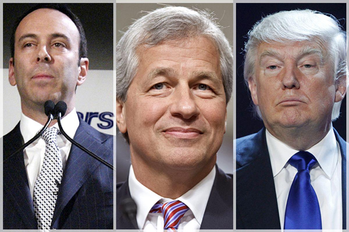 Edward Lampert, Jamie Dimon, Donald Trump            (AP/Gregory Bull/J. Scott Applewhite/Reuters/Steve Marcus)