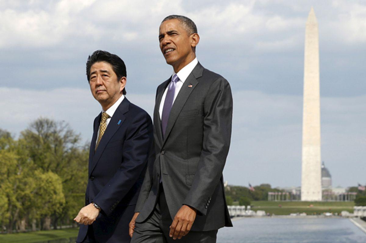 Barack Obama and Shinzo Abe             (Reuters/Kevin Lamarque)