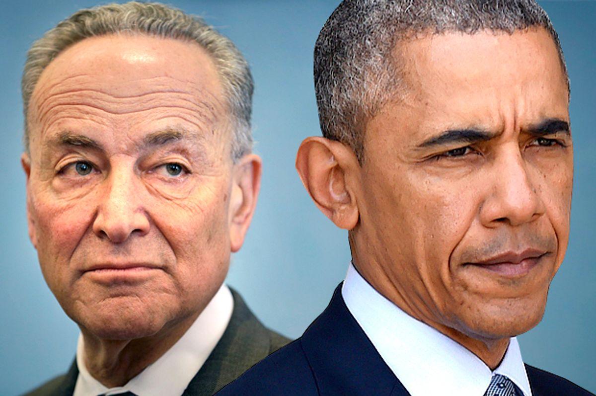 Chuck Schumer, Barack Obama            (AP/Seth Wenig/Susan Walsh/Photo montage by Salon)