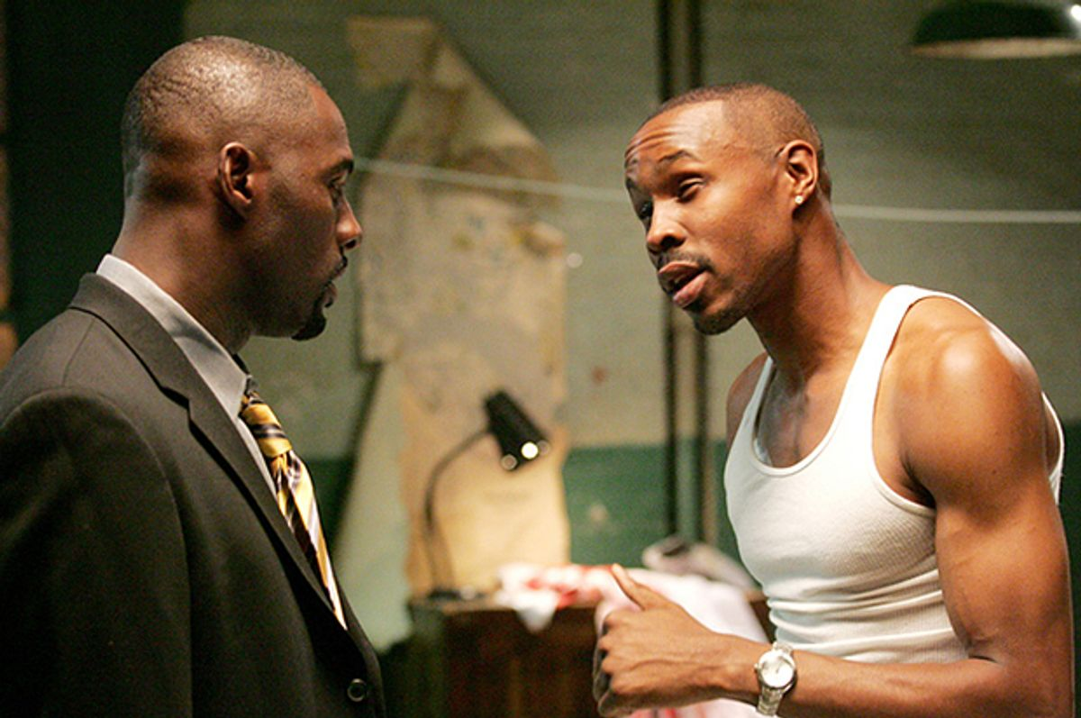 """Idris Elba and Wood Harris in """"The Wire""""       (HBO)"""