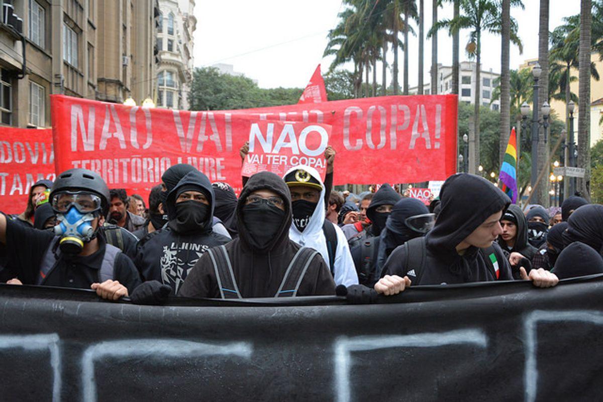 World Cup protest in São Paulo, Brazil     (Ben Tavener via Flickr)