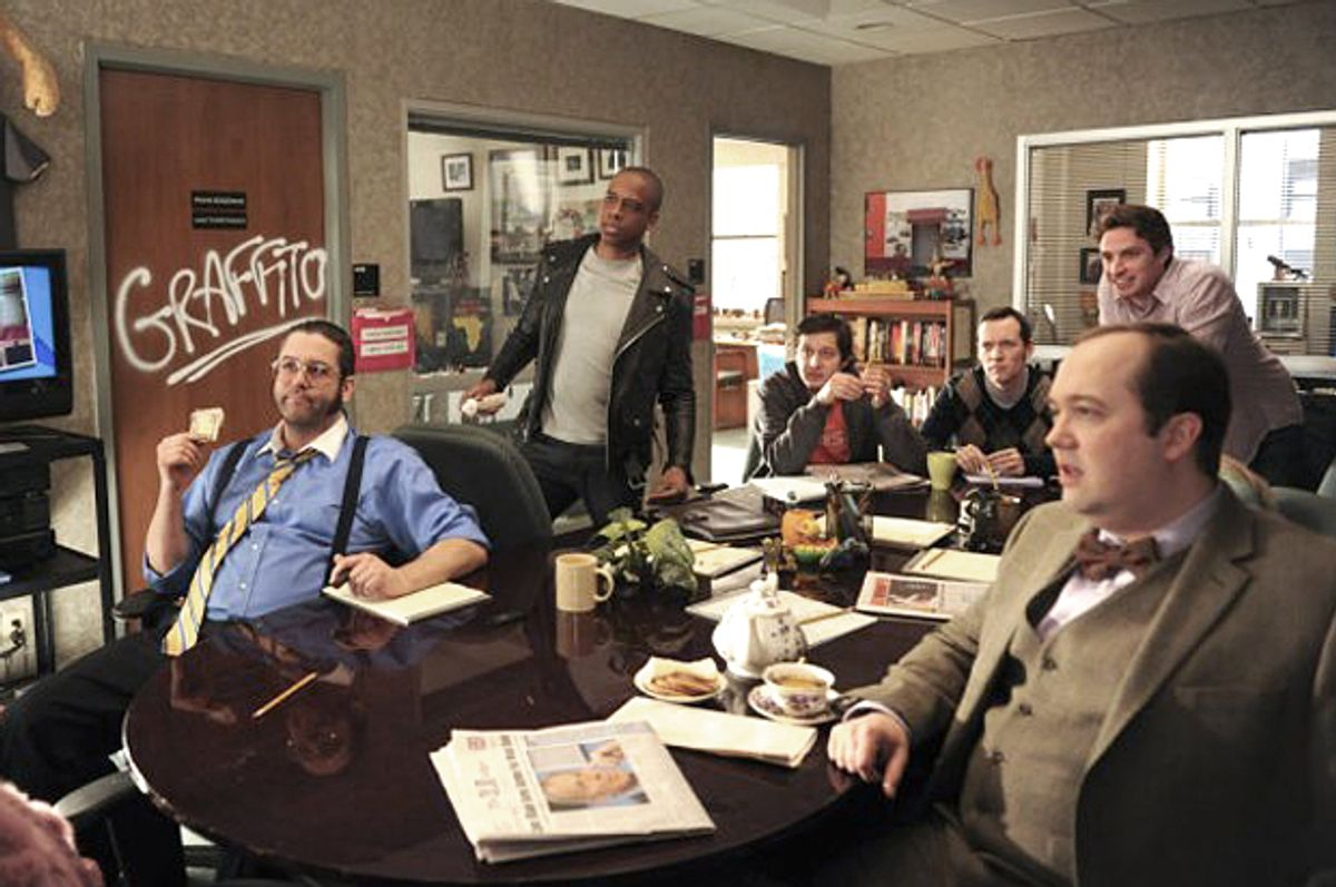"""The writers' room in """"30 Rock""""      (NBC)"""