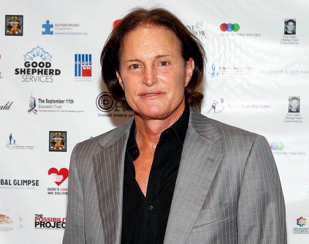 """FILE - In this Sept. 11, 2013, file photo, former Olympic athlete Bruce Jenner arrives at the Annual Charity Day hosted by Cantor Fitzgerald and BGC Partners, in New York. ABC said it will air a two-part """"Keeping Up With the Kardashians"""" on Sunday, May 10, 2015, and Monday, May 11, to broadcast intimate conversations and emotional moments Jenner shares with his family as they discuss his transition into life as a woman.  (Photo by Mark Von Holden/Invision/AP, File)   (Mark Von Holden/invision/ap)"""