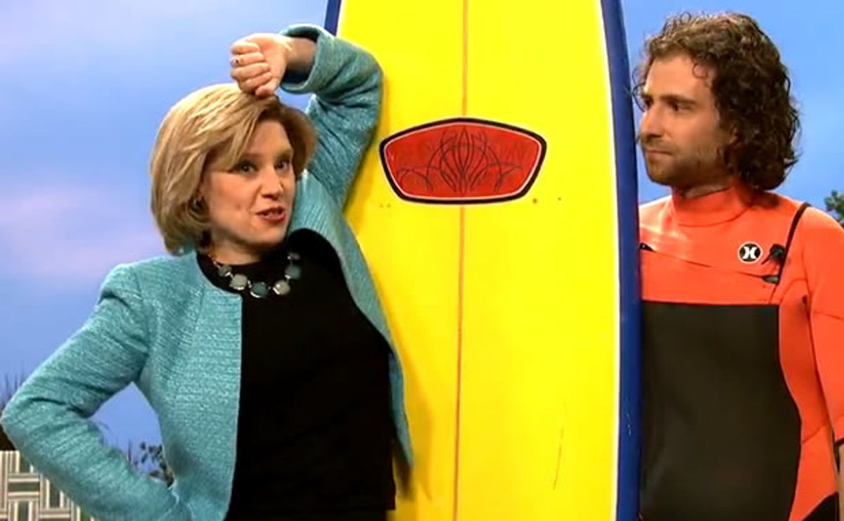 "Kate McKinnon as ""Hillary Clinton"" (""Saturday Night Live"")"