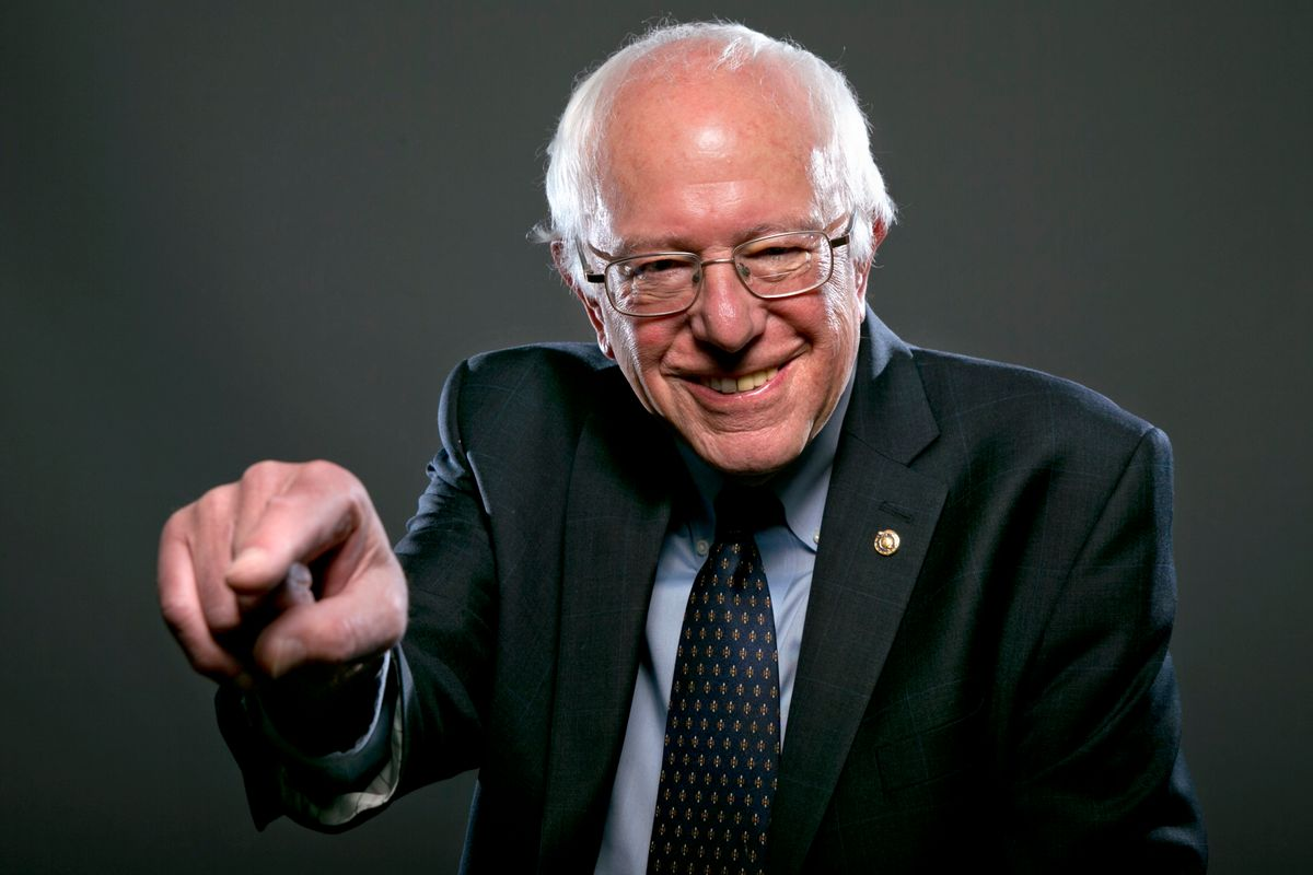 In this photo taken May 20, 2015, Democratic Presidential candidate Sen. Bernie Sanders, I-Vt., poses for a portrait before an interview with The Associated Press in Washington. For Democrats who had hoped to lure Massachusetts Sen. Elizabeth Warren into a presidential campaign, independent Sen. Bernie Sanders might be the next best thing. Sanders, who is opening his official presidential campaign Tuesday in Burlington, Vermont, aims to ignite a grassroots fire among left-leaning Democrats wary of Hillary Rodham Clinton. He is laying out an agenda in step with the party's progressive wing and compatible with Warren's platform _ reining in Wall Street banks, tackling college debt and creating a government-financed infrastructure jobs program. (AP Photo/Jacquelyn Martin) (AP)