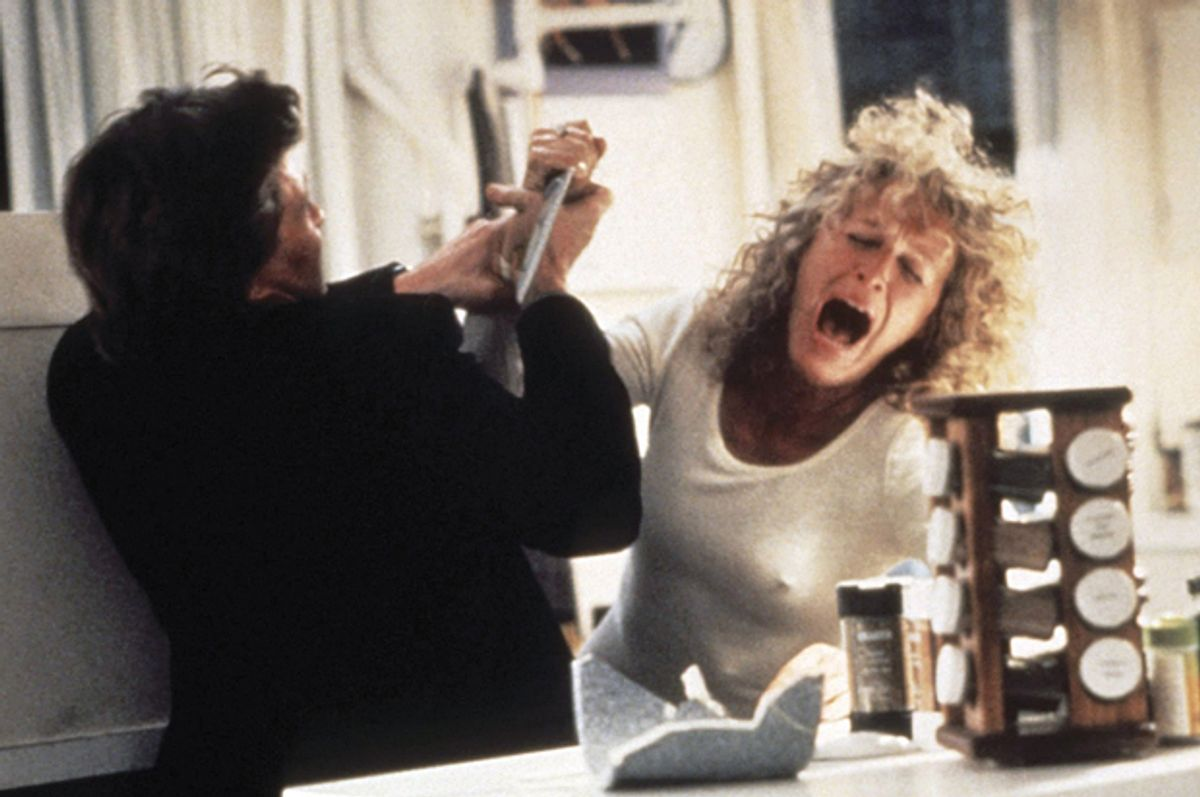 """Michael Douglas and Glenn Close in """"Fatal Attraction""""    (Paramount Pictures)"""